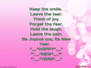 Keep the smile. Leave the tear. Think of joy....