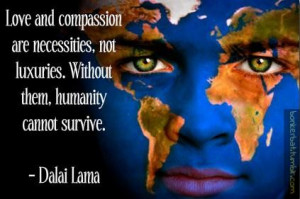 Dalai lama quotes and sayings love compassion positive