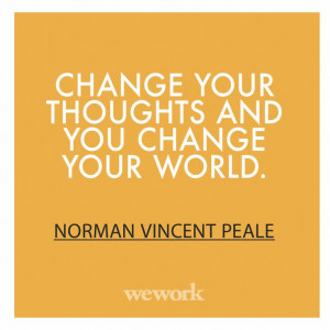 WeWork Inspirational Quote // Norman Vincent Peale