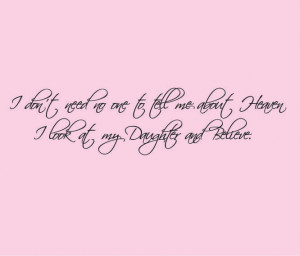 Daughter Quote Decal - Heaven