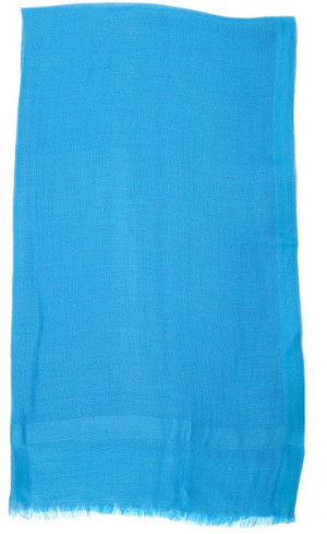 Love Quotes Coral Reef Linen Scarf in Blue (turquoise)