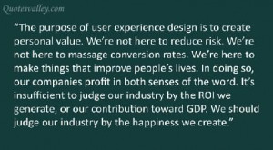 The Purpose For User Experience Design Is To Create Personal Value