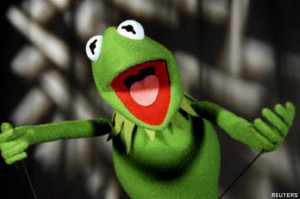 Unlike Kermit the Frog — who is a frog (and green) — the human has ...
