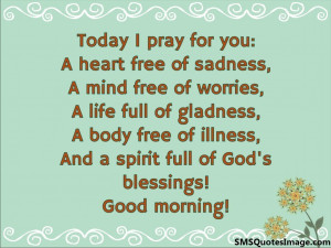 Today I pray for you...