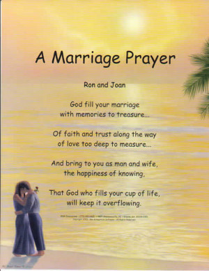 Marriage Prayer with our popular Lovers Background.