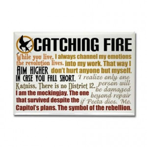 catching fire gifts catching fire magnets catching fire quotes ...
