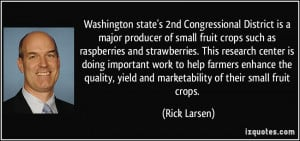 Washington state's 2nd Congressional District is a major producer of ...