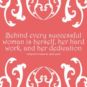hard work and dedication