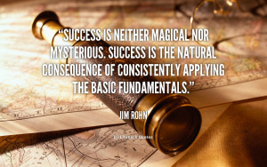 Success is neither magical nor mysterious. Success is the natural ...
