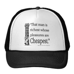 Thoreau Quote - Happiness - Quotes Sayings Trucker Hat