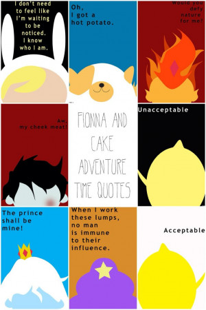 Fionna and Cake Adventure Time Quotes http://society6.com/PFKimmerle