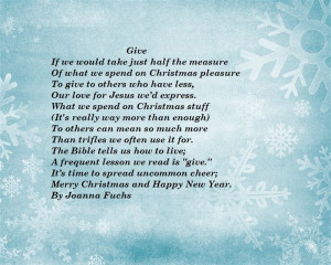 Famous Christian Christmas Poems For Church 2014