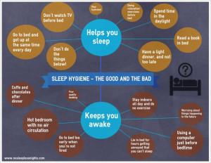 Categories of positive sleep hygiene techniques: