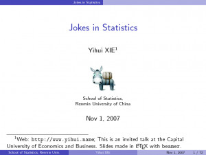 Funny Statistics Jokes
