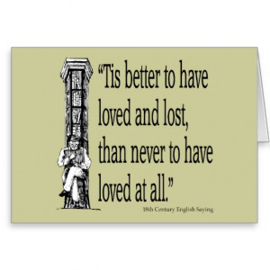 Old English Saying - Love - Quote Quotes Verses Greeting Card