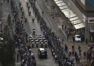 Nelson Mandela: Motorcade Takes Madiba's Body to Pretoria Union ...
