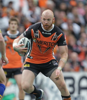 Wests Tigers Charity Season Launch Table Host Keith Galloway