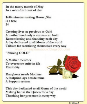 Love My Mom Poems That Will Make You Cry