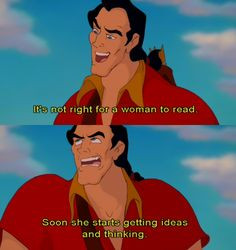 Beauty and the Beast cartoon #Disney , #Quote , #Women , #Books