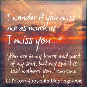 My Spirit Is Lost Without You..