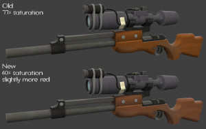 TF2 Sniper Rifle wood changes by Elbagast