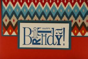 ... somone a Happy Birthday on this handmade birthday greeting card