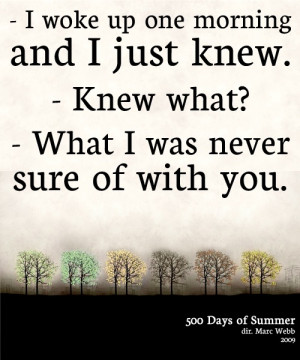 500 days of summer...