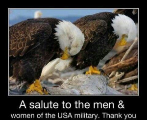 We salute you and thank you!