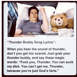 Thunder buddy!!!