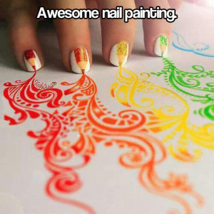 Fun with nail paint…