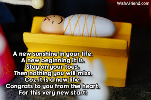 new life for you a new sunshine in your life a new beginning it is ...
