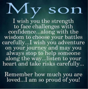 My Son Quotes From Mother