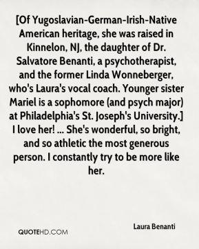 Laura Benanti - [Of Yugoslavian-German-Irish-Native American heritage ...