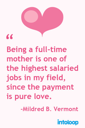 What it means to be a mother