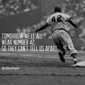 ... my respect for jackie robinson after i watched this movie. #42