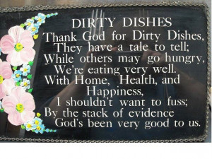 Dirty Dishes poem.