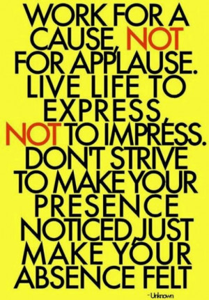 Stop trying to impress everyone