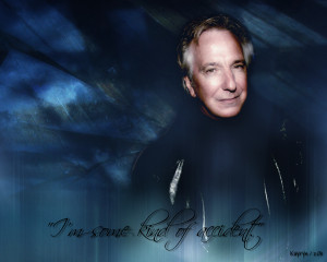 Two Wallpapers: Alan Rickman & Severus Snape