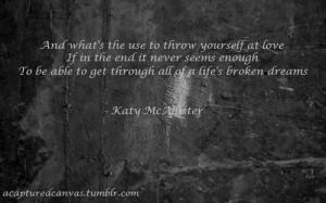 katy mcallister #another empty bottle #lyrics