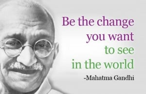 Great quote by Gandhi