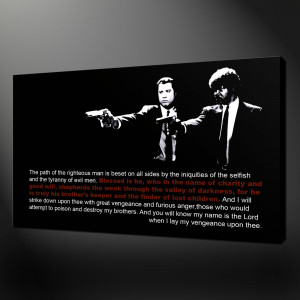 PULP-FICTION-EZEKIEL-QUOTE-POP-ART-PRINT-ON-CANVAS