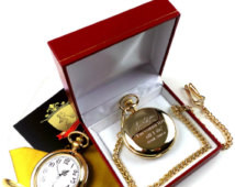 ... Watch in Luxury Gift box Case with Certificate Engraved Quote