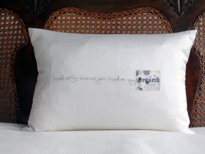 Dinah Silk Dream Quote Cushion