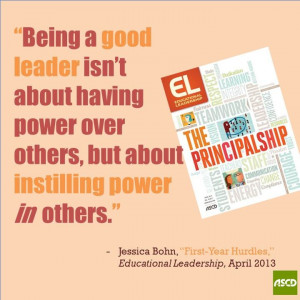 ... , challenges and tips for being a new principal in the April #ELmag