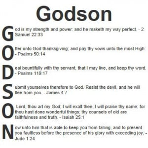 Blessing For A Godson | Acrostic blessings for Godson in the Bible ...