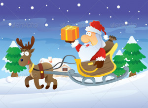 ... reindeer in hopes that old santa would christmas reindeer and santa