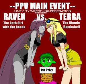Raven Vs. Terra by BluSerenity by Raven-Fans
