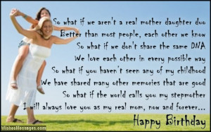 Birthday Poems for Stepmom