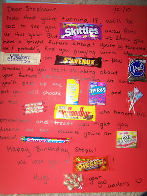 Here is a post with more candy bar card ideas . Enjoy!