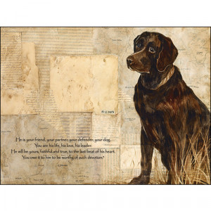 Details about Chocolate Lab Quote Art Wall Sign
